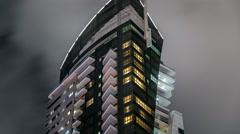 Close View of Dubai Marina Towers in Dubai at night timelapse Stock Footage