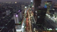 Aerial Ratchadaphisek Road Bangkok Stock Footage