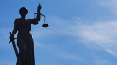 Statue of Lady Justice time lapse Stock Footage