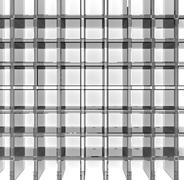 Empty glass grid Stock Illustration