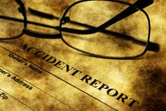 Accident report grunge concept Stock Illustration
