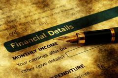 FInancial details on credit form - stock illustration