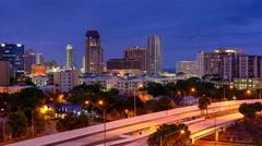 St. Petersburg, Florida, USA downtown skyline time lapse. Stock Footage