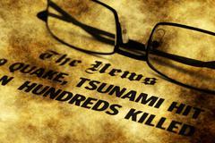 The tsunami news grunge concept Piirros