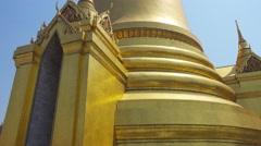 Golden Pagoda in Grand Palace, Bangkok, Thailand Stock Footage
