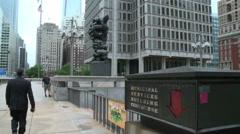Exterior Municipal Service Building Philadelphia Stock Footage