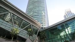 Almas Tower, Dubai Multi Commodities Centre, Jumeirah Lakes Towers, UAE Stock Footage