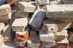 old red bricks - stock photo