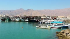 Dibba Al-Baya harbour, Sultanate of Oman Stock Footage