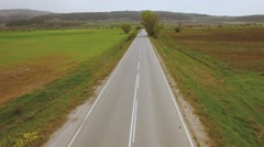Aerial video over roads Stock Footage
