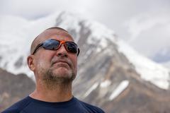 Portrait of Aged Mountain Climber Stock Photos