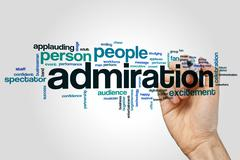 Admiration word cloud Stock Photos