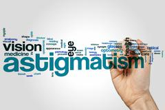 Astigmatism word cloud - stock photo