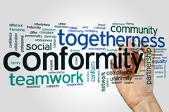 Conformity word cloud Stock Photos