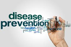Disease prevention word cloud Stock Photos
