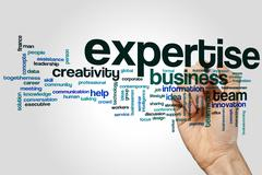 Expertise word cloud - stock photo