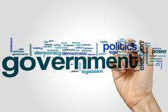 Government word cloud - stock photo