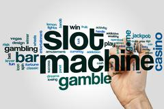 Slot machine word cloud Stock Photos