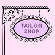 Tailor shop retro vintage street sign Stock Illustration