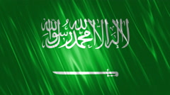 Saudi Arabia Flag Loopable Background Stock Footage
