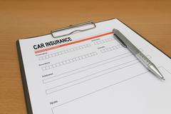 Car Insurance application form Stock Photos