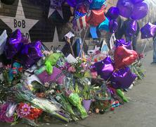 MINNEAPOLIS April 28, 2016 - Prince memorial outside of First Avenue. - stock photo