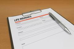 Life Insurance application form Stock Photos
