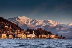 Belgirate, Lake Maggiore, Piedmont, Lombardy, Italy Stock Photos