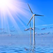 Offshore Wind farm Stock Photos