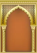 Cover with the Arab arch Stock Illustration
