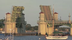 Drawbridge at Saint Augustine,Florida - stock footage