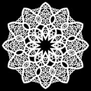 Lace round paper doily, lacy snowflake Stock Illustration