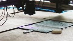 Laser Cutting Machine Technology HD Stock Footage