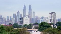 Kuala Lumpur Panorama in UHD - 4k Stock Footage