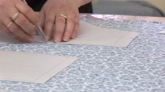 Professional factory cloth detail cutting. Industrial 4K footage Stock Footage