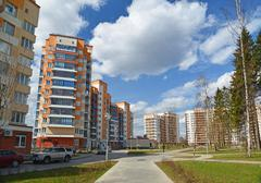 Moscow, Russia-April 24.2016. Residential Complex Green Forest in Zelenograd - stock photo