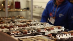 Knife exhibition - stock footage