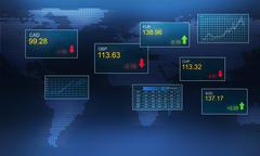 Stock exchange concept - stock illustration