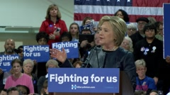 Hillary Clinton - St. Louis Rally - Union Speech - stock footage