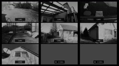 4K Switiching Cameras on Outdoor Home Security Multi Camera System Stock Footage
