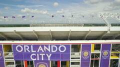 Aerial of Citrus Bowl Football Stadium in Orlando, FL Stock Footage