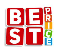 Best Price Sign Template Vector Illustration - stock illustration
