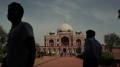 Delhi Humayn's Tomb People Timelapse 4K Stock Footage