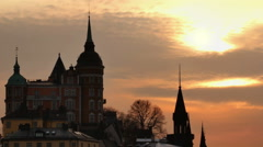 Sodermalm district of Stockholm, Sweden Stock Footage