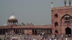Delhi Jama Masjid People Timelapse 4K Stock Footage