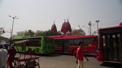 Delhi Traffic Crossing Timelapse 4K Stock Footage