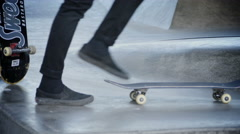Skateboarders In Stockholm at spring - stock footage