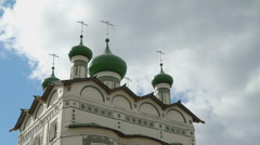 Orthodox monastery with domes and crosses Stock Footage