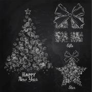 New Year collection - stock illustration