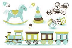 Childrens locomotive Stock Illustration
